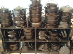 Hammered Cast Iron.  All makes and all sizes.