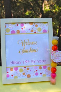 You Are My Sunshine Party- New Party in Bloom