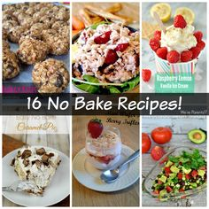 16 No Bake recipes!  1/2 using no appliances, 1/2 using small appliances! Save money with #PGEHome #sponsored The Ultimate Pinterest Party, Week 28