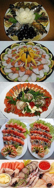 Рыбная нарезка для праздничного стола
