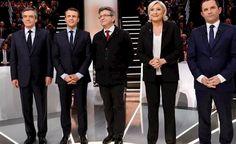 El primer debate de candidatos en Francia concluye sin un vencedor