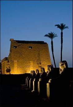 Luxor Temple,  Alley of Rams, Egypt - At the doorway of this temple, one obelisk stands waiting for it's mate, which is in Paris, near the Eiffel Tower. WTF? Luxor needs this back!!!!