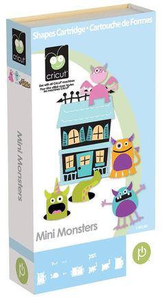 ScrapbookPal.com - Cricut Cartridge - Mini Monsters, $34.99 (http://www.scrapbookpal.com/cricut-cartridge-mini-monsters/)