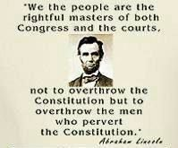"""We the people are the rightful masters of both Congress and the courts, not to overthrow the Constitution but to overthrow the men who pervert the Constitution."""" Abraham Lincoln… or some smart guy if it wasn't Abe. Great Quotes, Quotes To Live By, Me Quotes, Inspirational Quotes, Fabulous Quotes, Strong Quotes, Qoutes, I Love America, God Bless America"""