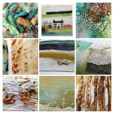 textiles, paintings, rust and texture - Carolyn Saxby Textile Art