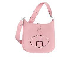 bag knockoffs - New HERMES Mini Evelyne Purse - 2015 - Sakura Rose   The Hermes ...