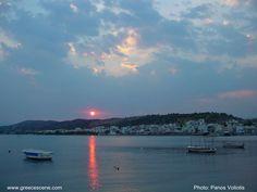 Korinthikos bay at sunset
