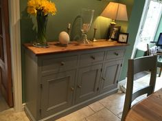 Farrow and ball worsted sideboard