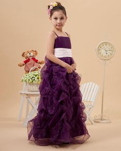 Robe de cortège enfant romantique de mode de bal ceinture ornée en organza