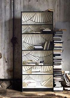 La bibliothèque Billy en noir et blanc. The Hacked IKEA Billy bookcase! I LOVE this idea!!
