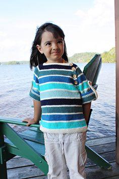 Free Knitting Pattern - Toddler & Children's Clothes: Seamus Summer Pullover