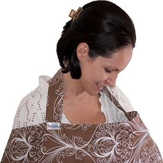 Nursing Cover 100% Cotton - Breastfeeding Cover - 105cm wide x 70cm high Nursing Apron - Gift For New Moms + Free Carry Bag (Brown Print) Dazoriginal http://www.amazon.co.uk/dp/B00N6RAIFG/ref=cm_sw_r_pi_dp_Mv7Pvb00H5497