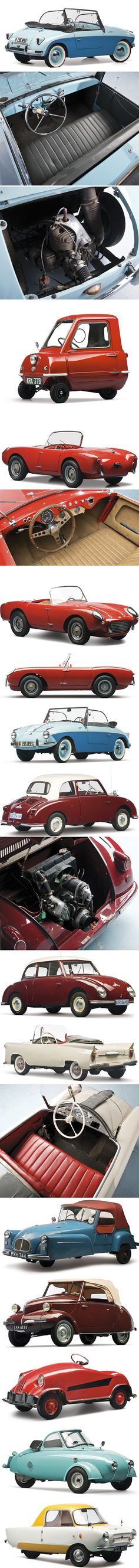 #Microcars from the 50s and 60s #coolcars QuirkyRides.com