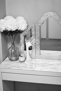 Marble ikea malm dressing table DIY idea