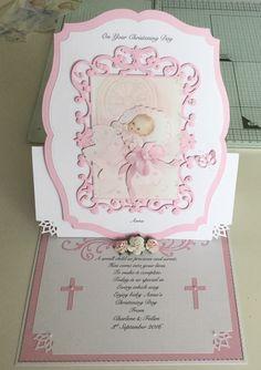 Christening easel card