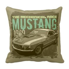 Ford mustang vintage pillows
