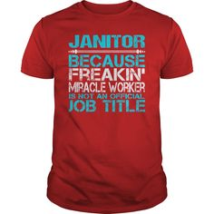 Awesome Tee For Janitor T-Shirts, Hoodies. SHOPPING NOW ==► https://www.sunfrog.com/LifeStyle/Awesome-Tee-For-Janitor-116007071-Red-Guys.html?id=41382