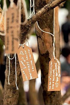 árvore de desejos para os noivos