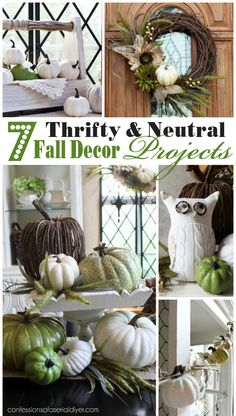 7 Thifty neutral Fall Decor Projects from confessionsofaser...
