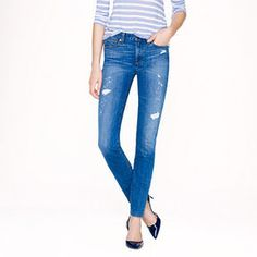 Midrise toothpick jean in Cone Denim in Charlevoix wash - J.Crew | Ador