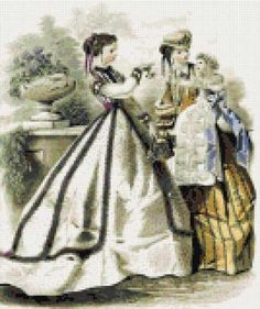 Victorian fashion No2 cross stitch kit or pattern