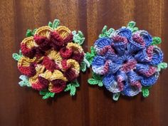 Rosas de crochê feitas por mim