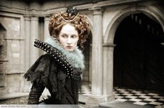 Elizabeth I gown with gothic style