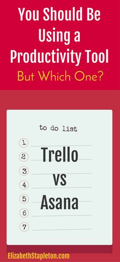 Trello vs Asana | productivity tools | productivity resources | organization hacks
