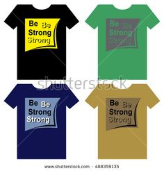 Four various design for tshirt with text