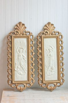Hollywood Regency Homco Vintage Wall Art Nouveau By Mollyfinds 30 00