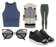 """""""Untitled #56"""" by journeycarothers on Polyvore featuring Vince, Topshop, Miss Selfridge and adidas Originals"""