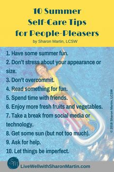 Summer Self Care Tips for People-Pleasers #selfcare #summer #peoplepleaser
