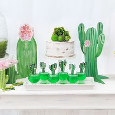 Are you loving the Cactus and Succulent trend hitting the party and home decor scene lately? I sure am! When I saw this new line of Cactus Party Decor, I couldn't wait to create a