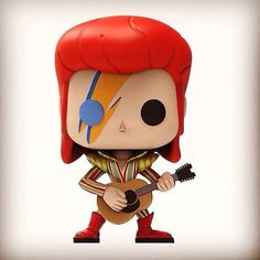 Pop figure David Bowie Ziggy Stardust digital sculpt by Creation Crib. Custom Pop Vinyl, Custom Funko Pop, David Bowie, Hard Rock, Rock N Roll, Pop Figurine, Nintendo, Pop Toys, Funko Pop Figures