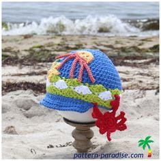 86c9d90f9f3 Splish Splash Crochet Hat Pattern · All Free CrochetCrochet Baby HatsCrochet  For ...