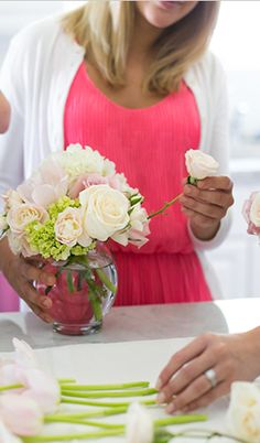 DIY flower arrangements
