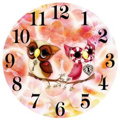 GOANG New needlework Cartoon clock owl diy diamond painting cross stitch full embroidery and square drill mosaics painting Clock Face Printable, Owl Clock, Clock Craft, Handmade Clocks, Clock Painting, Decoupage Paper, Cross Paintings, Creative Crafts, Vintage Postcards