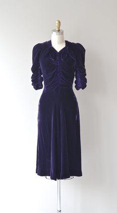 Winter Siren dress silk velvet 30s dress vintage by DearGolden