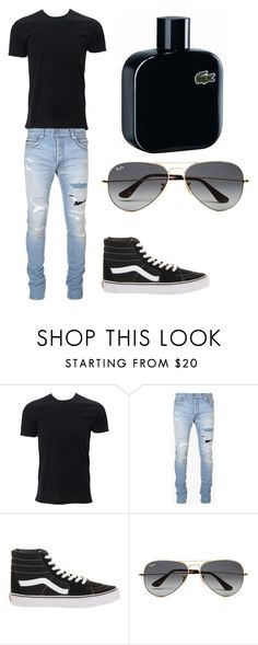 """""""classic"""" by muamermrkovic ❤ liked on Polyvore featuring Balmain, Vans, Ray-Ban, Lacoste, men's fashion and menswear"""