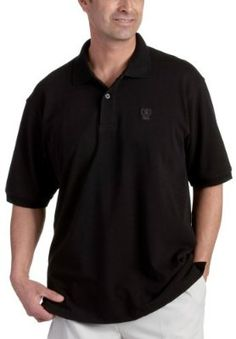 IZOD Mens Short Sleeve Basic Solid Two Button Pique Polo c0f42ba69