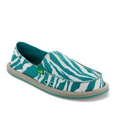 Another great find on #zulily! Peacock Zebra I'm Game Slip-on Shoe - Women by Sanuk #zulilyfinds