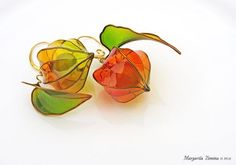 Floral Resin and Wire Jewelry by Margarita Zimina ~ The Beading Gem's Journal