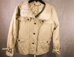 Woman's Talbots Quilted Coat Jacket Camel Light Brown Size Small #Talbots…