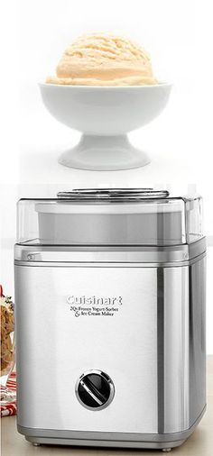 homemade ice cream is so delicious- gift this Cuisinart Ice Cream Maker available at Macy's #icecream #yummy #macys http://www1.macys.com/shop/wedding-registry/product/cuisinart-ice-30bc-ice-cream-maker?ID=219956&cm_mmc=BRIDAL-_-CARAT-_-n-_-BCPinterest