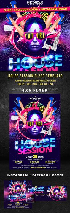 Future House Session Party Flyer Tempalte #design Download: http://graphicriver.net/item/future-house-session-party-flyer-template/12497912?ref=ksioks
