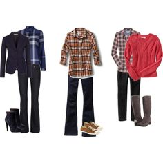 How to wear a classic plaid shirt! love the pink and gray