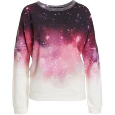 This cosmic print womens sweat top is a must have this season. Featuring a soft feel fabric and round neck design, this sweat top can be dressed up or down. Pe…