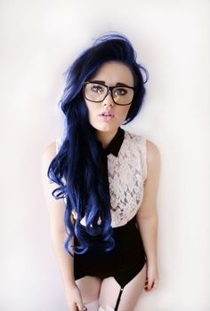 I'm dyeing my hair almost this color. Less purple lowlights.