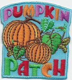 Girl Boy Cub Pumpkin Patch Blue Visit Fun Patches Crests Badges Scout Guide Tour | eBay