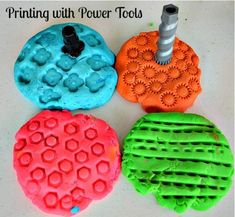 "Ideas for making marks in play dough - from Blog Me Mom ("",)"
